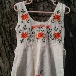 Toddler 2T Cancun Sun dress embroidered